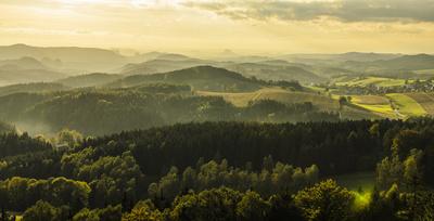 Landschaft im Elbsandsteingebirge