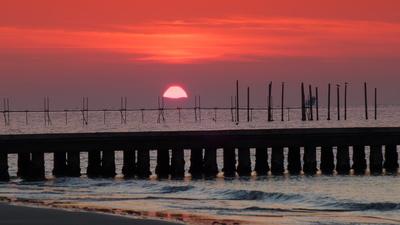 Sonnenaufgang in Lido di Jesolo