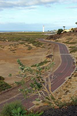 Straße zum Leuchtturm