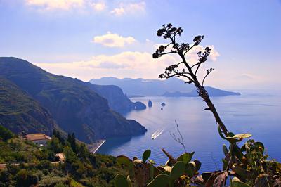 Blick von Lipari nach Vulcano