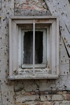 Altes Fenster im Fachwerkhaus