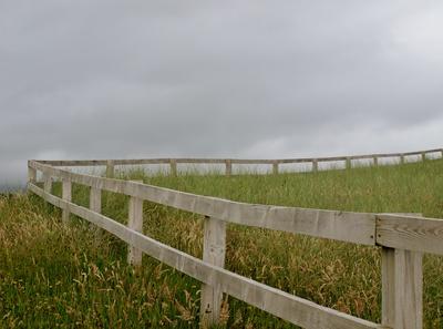 Zaun mit Ecke
