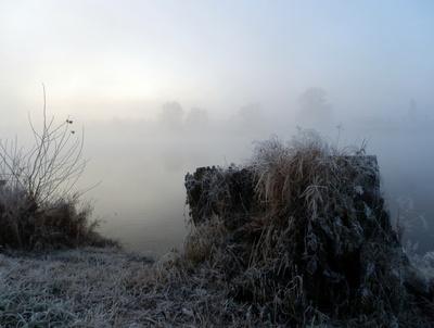 Novembermorgen am Fluss