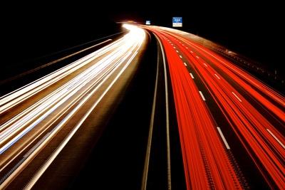Hansalinie in der Nacht bei Roxel