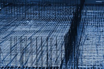 Baustelle - Stahlmattengeflecht