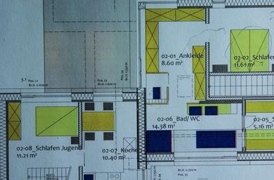 Baustelle - Architektenplan DG 2