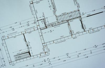 Baustelle - Plan des Architekten