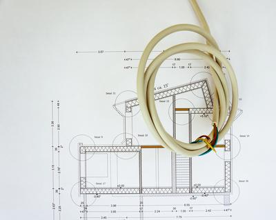 Baustelle - Innenausbau Elektrokabel