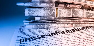 Presseinformationen mit Zeitung 1