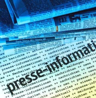 Presseinformationen mit Zeitung 2