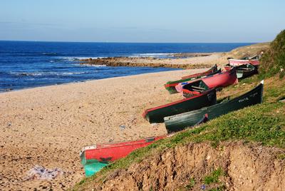 Marokko - Fischerboote bei El Jadida