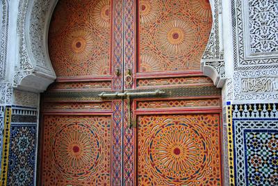 Marokko - Portal in der Medina von Fès