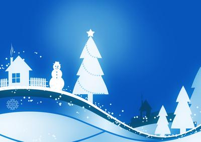 Winterlandschaft in blau