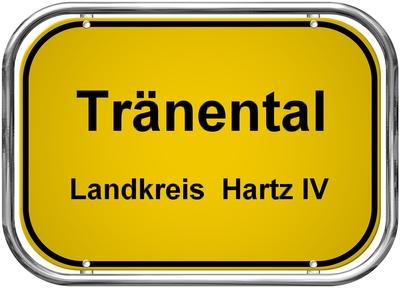 """Ortsschild """"Tränental"""" ..."""