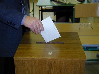 Stimmabgabe bei der Wahl