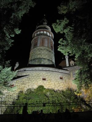 Burg, Böhmisch Krumau bei Nacht_1
