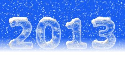 Neues Jahr - 2013 Blau