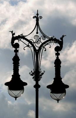 Straßenlaterne am Brandenburger Tor