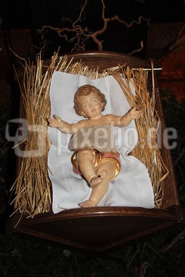 Christkind in der Weihnachtskrippe (Mondsee, OÖ)_1