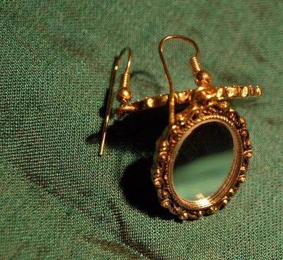 Spiegel-Ohrringe