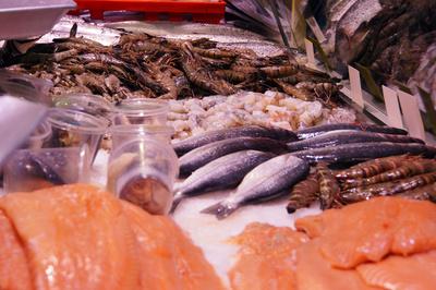 Garnelen, Lachs und Co