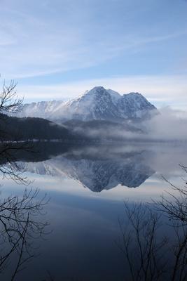 Nebel über dem Altausseer See