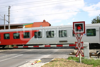 Andreaskreuz am Bahnschranken