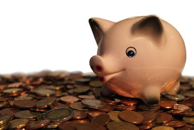 Sparschwein auf Münzen