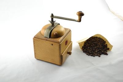 Kaffeemaschine mit Bohnen