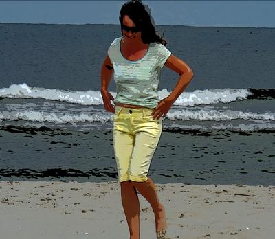 Frau am Meer (3)