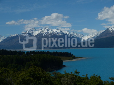 Südalpen NZ am Lake Pukeko