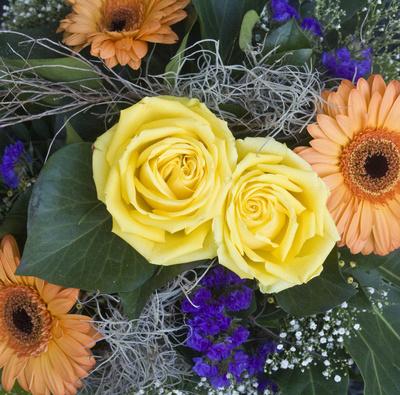 Winterlicher Blumenstrauss