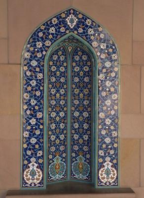 Mosaik an der Moschee