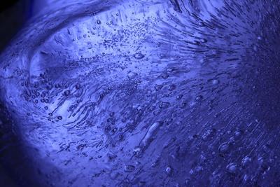 blue broken ice