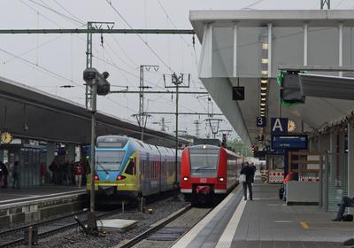 Triebzüge im Hauptbahnhof