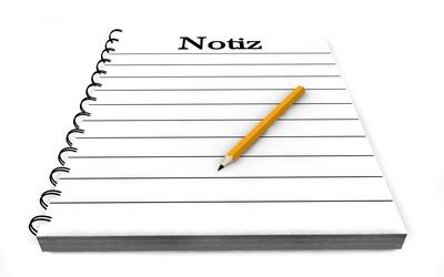 Notiz Block Stift