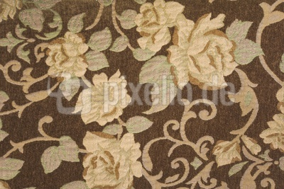 floraler Bezugsstoff braun-beige