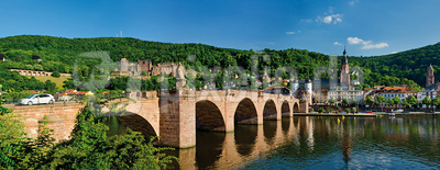 Panorama Heidelberg Alte Brücke