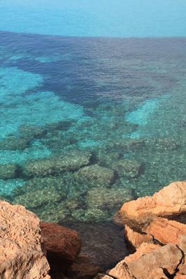 glasklares Wasser auf Formentera