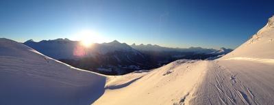 Sonnenaufgang Panorama Lenzerheide
