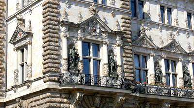 Hamburger Rathausfassade