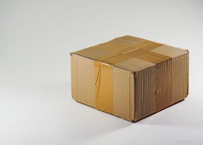 Paket geschlossen, flach