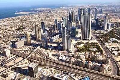 Blick über  Dubai