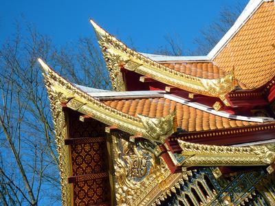 Koreanischer Tempel .
