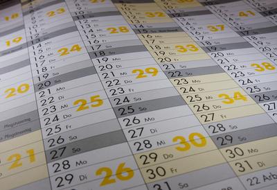 Kalendarium neutral Monate Tage