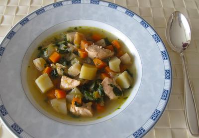 Gemüsesuppe mit Huhn