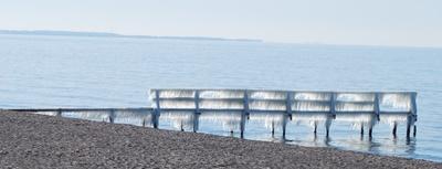 Eiswand an der Ostsee