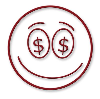 Smiley im Dollar-Style