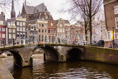 Leidsegracht in Alt-Amsterdam