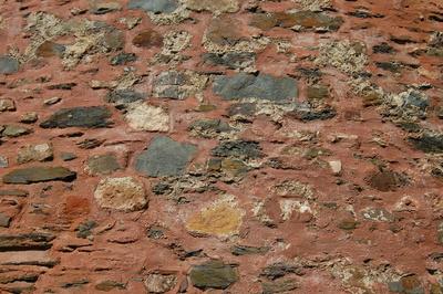 Textur rötliche Burgmauer
